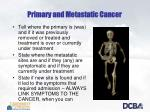 primary and metastatic cancer