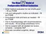 the mayo model of preoperative medical evaluation