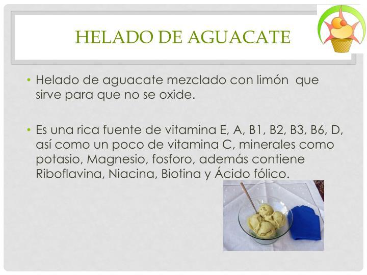 HELADO DE AGUACATE