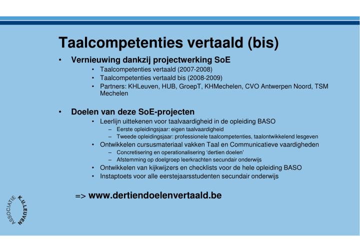 Taalcompetenties vertaald (bis)