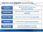 waarom onze klanten succesvol zijn