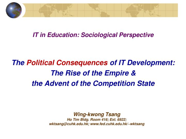it in education sociological perspective n.