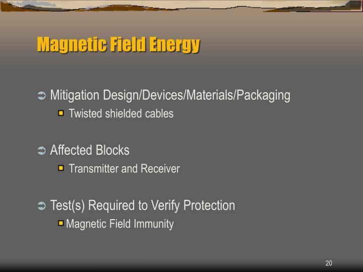 Magnetic Field Energy