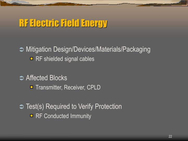 RF Electric Field Energy