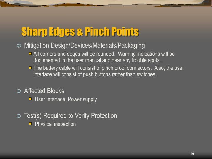 Sharp Edges & Pinch Points