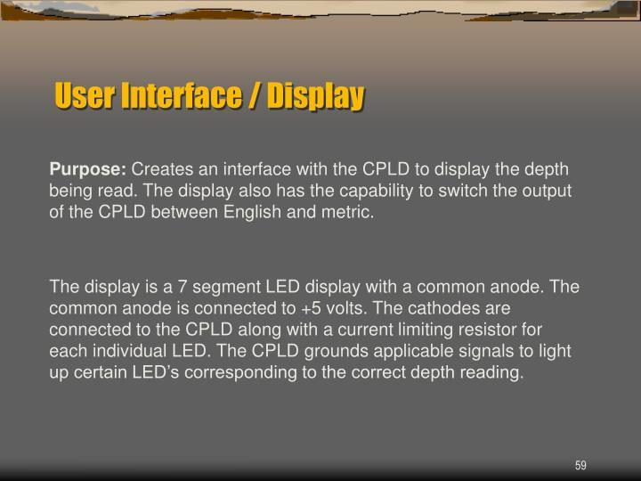 User Interface / Display