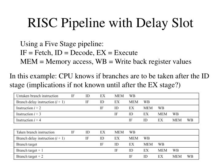 RISC Pipeline with Delay Slot