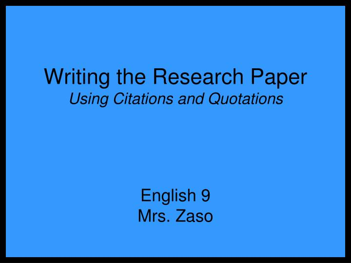 how to use citations in a research paper How to cite a research paper five methods:citation help apa chicago mla ama community q&a use sentence capitalization to write out the full title of the research paper, capitalizing if you found the research paper in a database maintained by a university, corporation, or other organization.