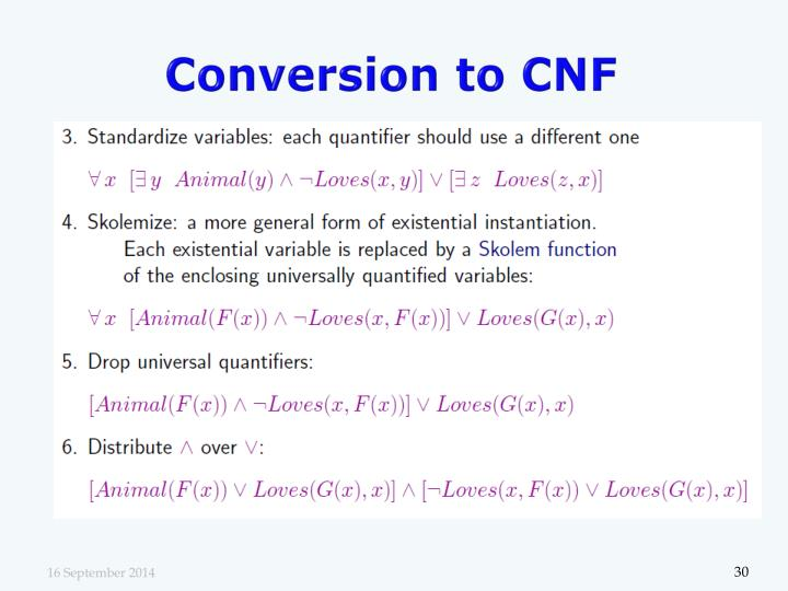 Conversion to CNF