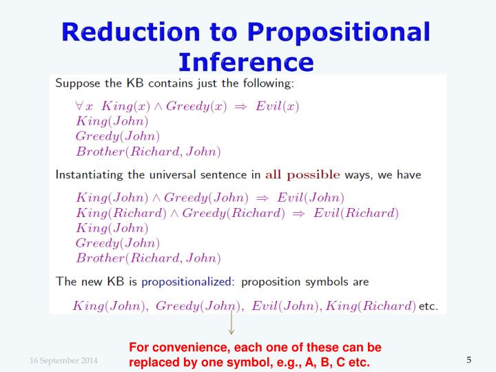 Reduction to Propositional Inference