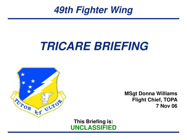Ppt Tricare Briefing Powerpoint Presentation Id4453403