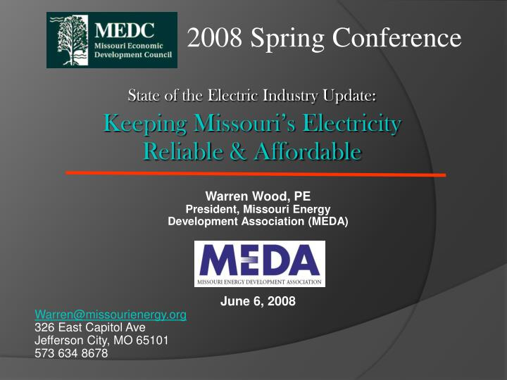state of the electric industry update keeping missouri s electricity reliable affordable n.