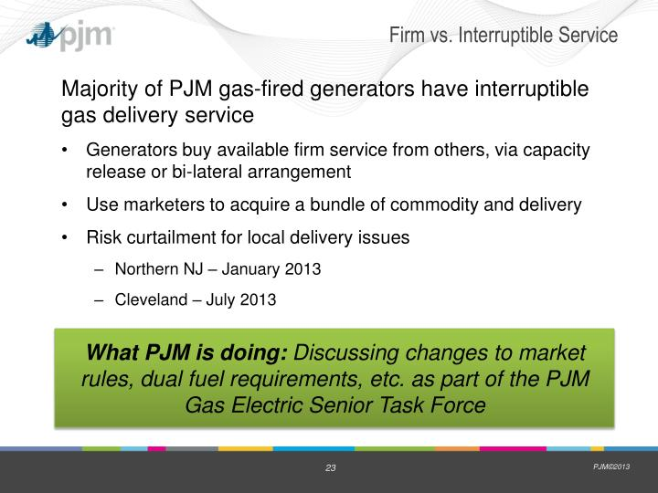 Firm vs. Interruptible Service