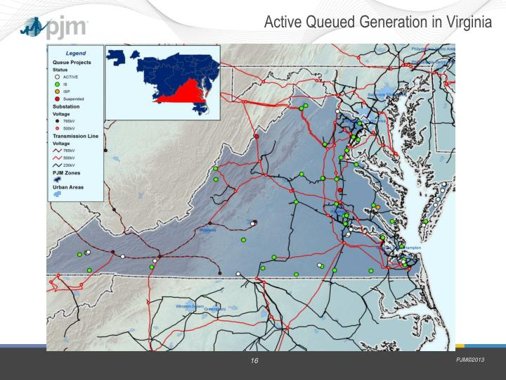 Active Queued Generation in Virginia