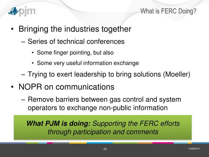 What is FERC Doing?