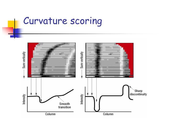 Curvature scoring