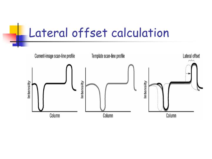 Lateral offset calculation
