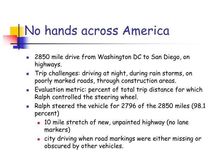 No hands across America