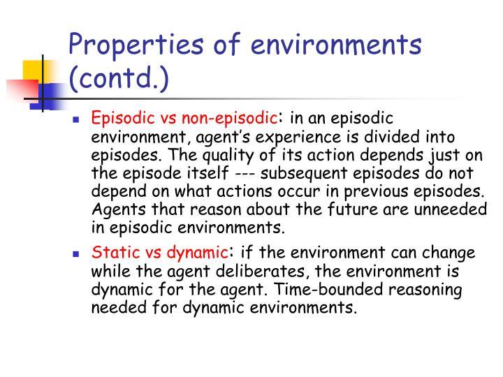 Properties of environments (contd.)
