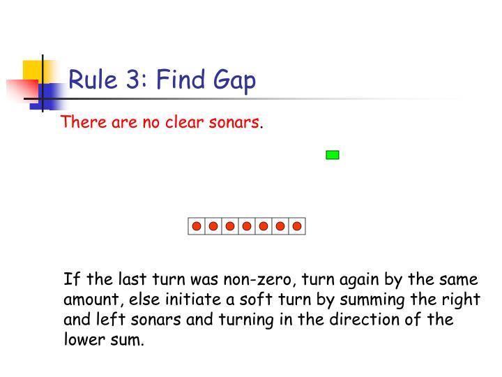 Rule 3: Find Gap