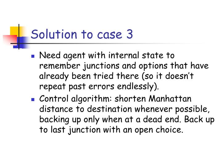 Solution to case 3