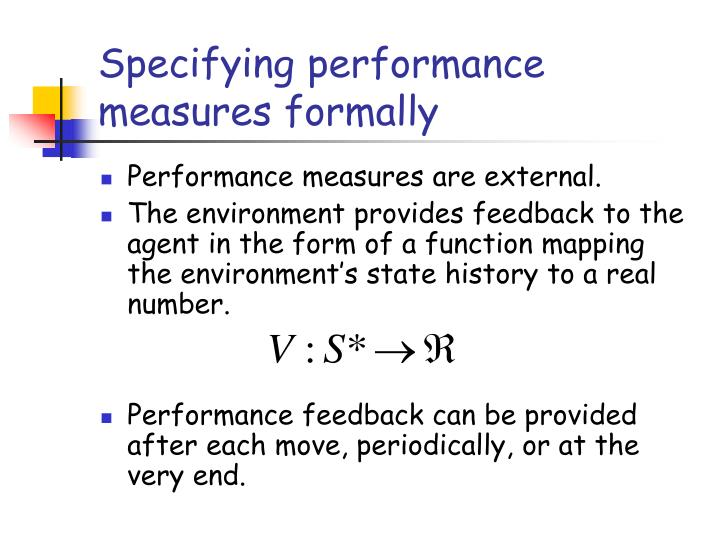 Specifying performance measures formally