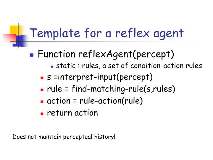 Template for a reflex agent