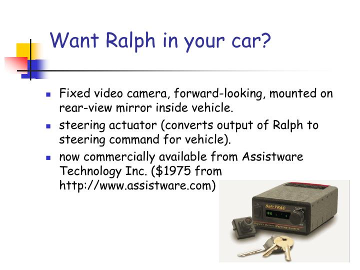 Want Ralph in your car?