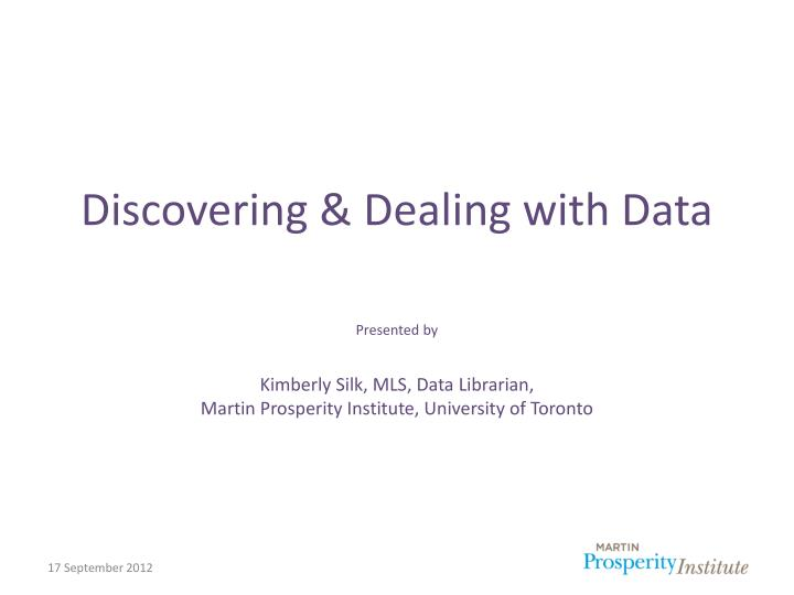 discovering dealing with data n.