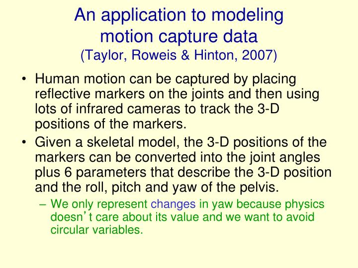 An application to modeling
