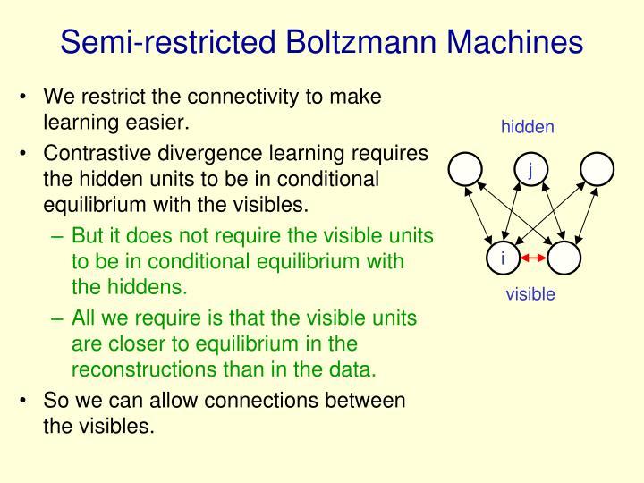 Semi-restricted Boltzmann Machines