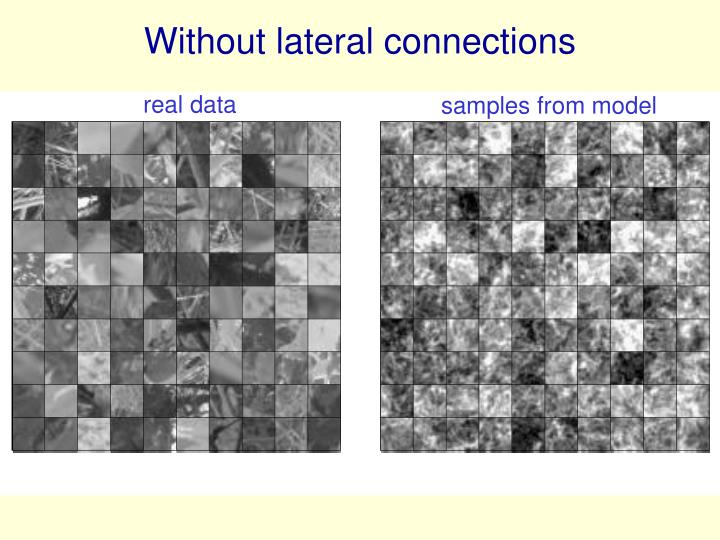 Without lateral connections