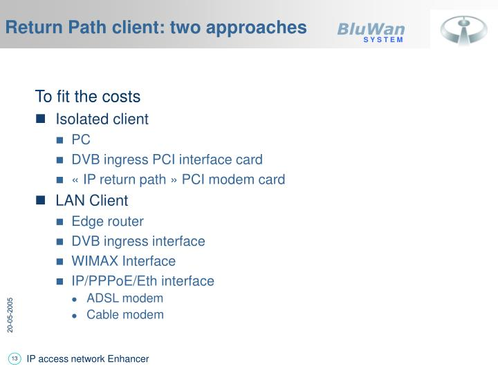 Return Path client: two approaches