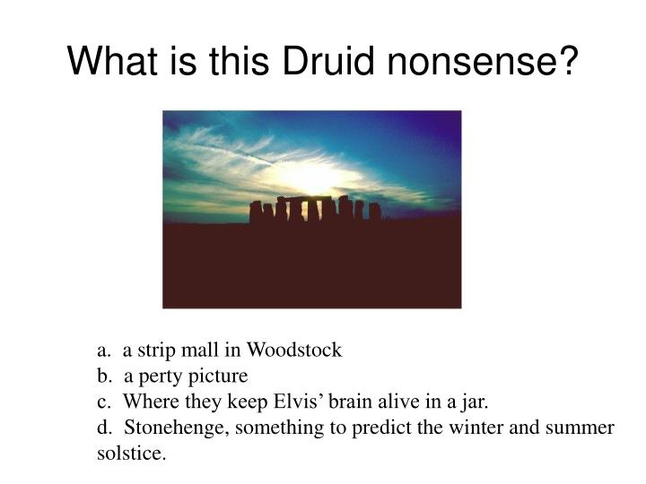What is this Druid nonsense?