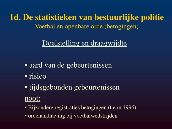 1d. De statistieken van bestuurlijke politie