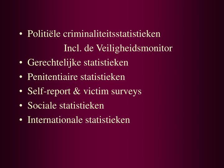 Politiële criminaliteitsstatistieken