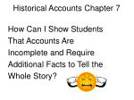 historical accounts chapter 7
