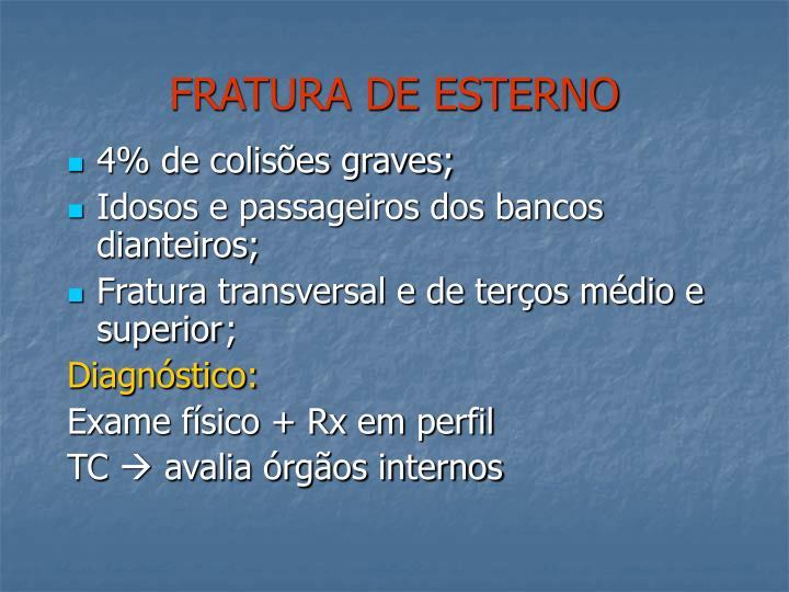 FRATURA DE ESTERNO