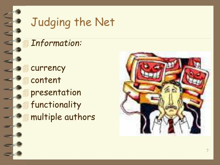 Judging the Net