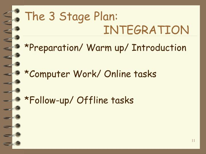 The 3 Stage Plan: