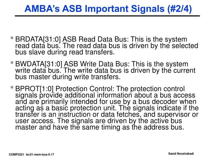 AMBA's ASB Important Signals (#2/4)