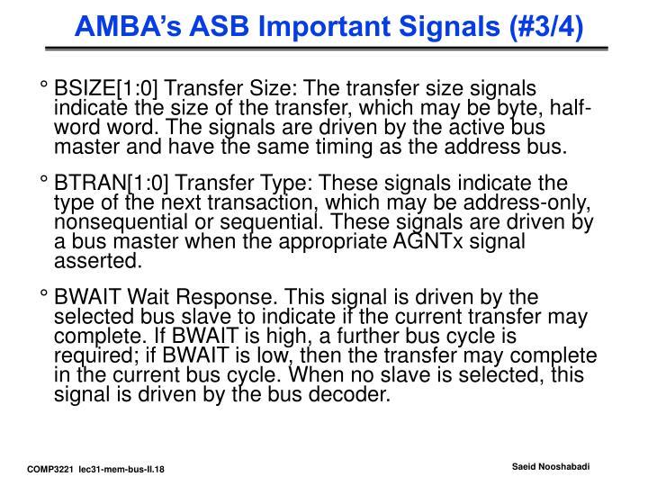 AMBA's ASB Important Signals (#3/4)