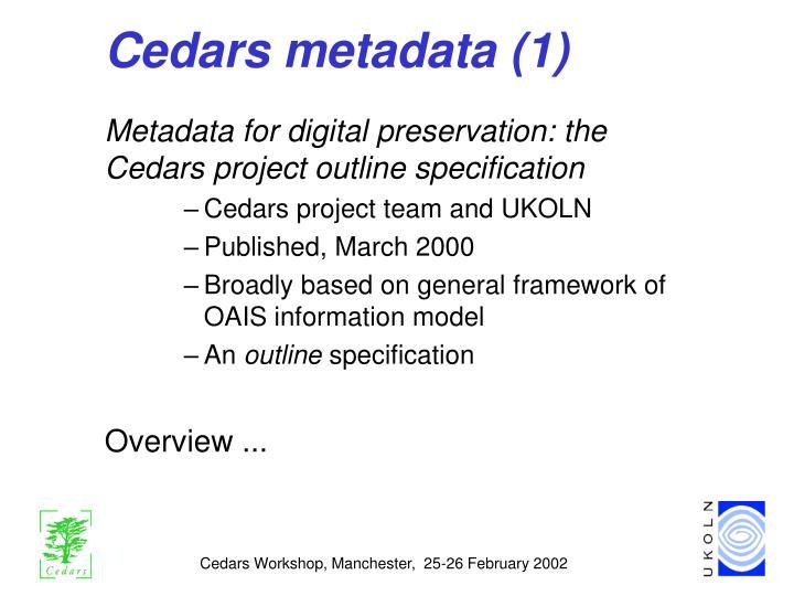Cedars metadata (1)
