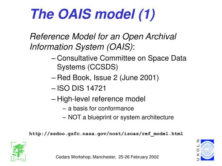 The OAIS model (1)