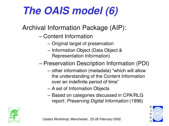 The OAIS model (6)
