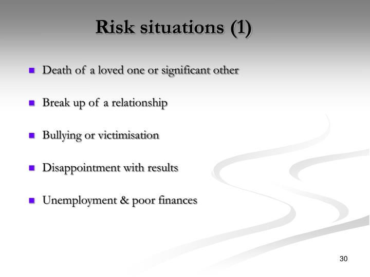 Risk situations (1)