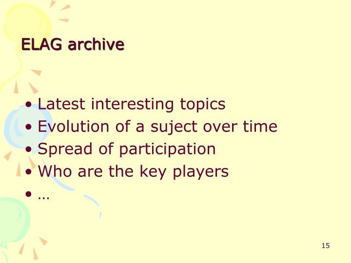 ELAG archive