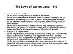 the laws of war on land 18802