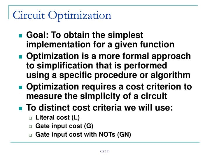 Circuit optimization