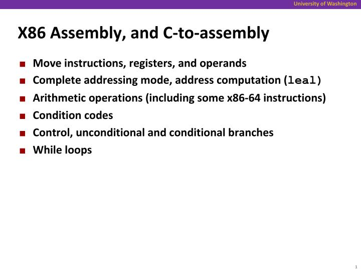 x86 assembly and c to assembly n.